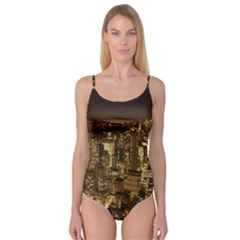 New York City At Night Future City Night Camisole Leotard