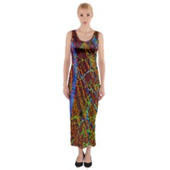 Neurobiology Fitted Maxi Dress