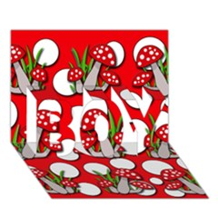 Mushrooms pattern BOY 3D Greeting Card (7x5)