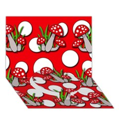 Mushrooms pattern Circle Bottom 3D Greeting Card (7x5)