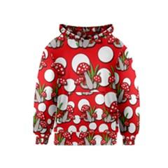 Mushrooms pattern Kids  Pullover Hoodie