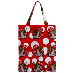 Mushrooms pattern Zipper Classic Tote Bag