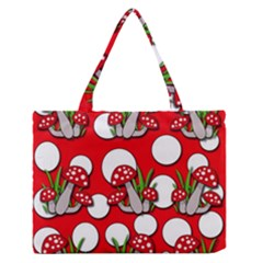 Mushrooms pattern Medium Zipper Tote Bag