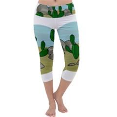 Desert Capri Yoga Leggings