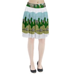 Desert Pleated Skirt