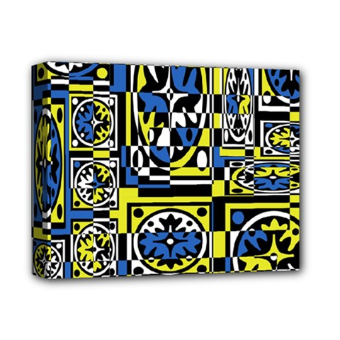 Blue and yellow decor Deluxe Canvas 14  x 11