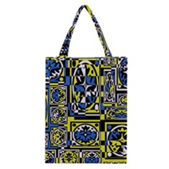 Blue and yellow decor Classic Tote Bag