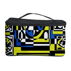 Blue and yellow decor Cosmetic Storage Case