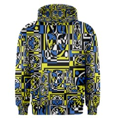 Blue and yellow decor Men s Pullover Hoodie