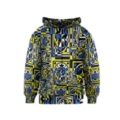 Blue and yellow decor Kids  Zipper Hoodie
