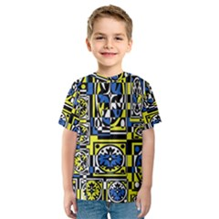 Blue and yellow decor Kids  Sport Mesh Tee