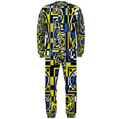 Blue and yellow decor OnePiece Jumpsuit (Men)