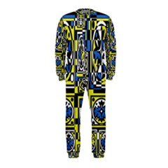 Blue and yellow decor OnePiece Jumpsuit (Kids)