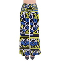 Blue and yellow decor Pants