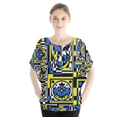 Blue and yellow decor Blouse