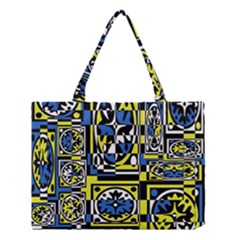 Blue and yellow decor Medium Tote Bag
