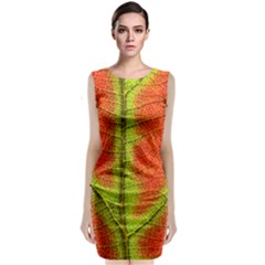 Nature Leaves Classic Sleeveless Midi Dress