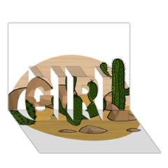 Desert 2 GIRL 3D Greeting Card (7x5)