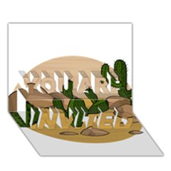 Desert 2 YOU ARE INVITED 3D Greeting Card (7x5)