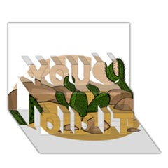 Desert 2 You Did It 3D Greeting Card (7x5)