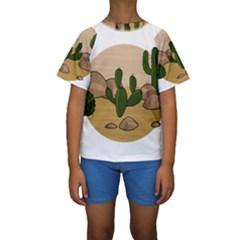Desert 2 Kids  Short Sleeve Swimwear