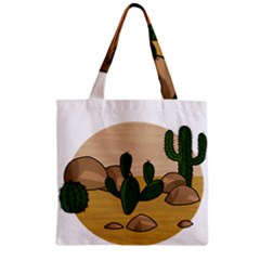 Desert 2 Zipper Grocery Tote Bag