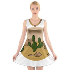 Desert 2 V-Neck Sleeveless Skater Dress