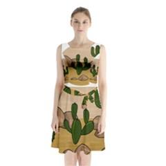 Desert 2 Sleeveless Chiffon Waist Tie Dress