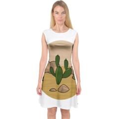 Desert 2 Capsleeve Midi Dress