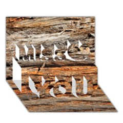 Natural Wood Texture Miss You 3D Greeting Card (7x5)