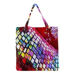 Multicolor Wall Mosaic Grocery Tote Bag
