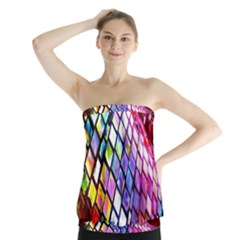 Multicolor Wall Mosaic Strapless Top
