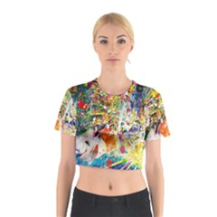 Multicolor Anime Colors Colorful Cotton Crop Top