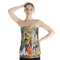 Multicolor Anime Colors Colorful Strapless Top