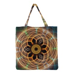 Mixed Chaos Flower Colorful Fractal Grocery Tote Bag