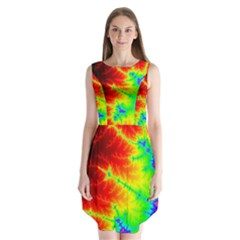Misc Fractals Sleeveless Chiffon Dress
