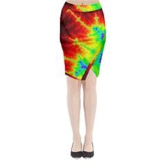 Misc Fractals Midi Wrap Pencil Skirt