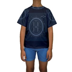 Minimalistic Knowledge Mathematics Trigonometry Kids  Short Sleeve Swimwear