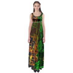 Minecraft Fractal Empire Waist Maxi Dress