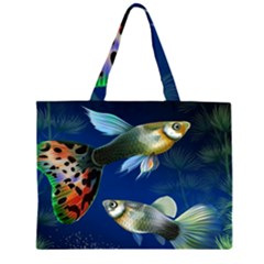 Marine Fishes Large Tote Bag