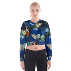 Marine Fishes Women s Cropped Sweatshirt