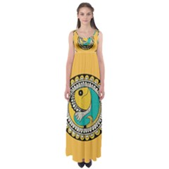 Madhubani Fish Indian Ethnic Pattern Empire Waist Maxi Dress