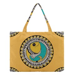 Madhubani Fish Indian Ethnic Pattern Medium Tote Bag
