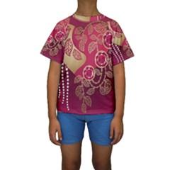 Love Heart Kids  Short Sleeve Swimwear