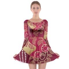 Love Heart Long Sleeve Skater Dress