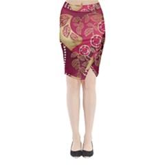 Love Heart Midi Wrap Pencil Skirt