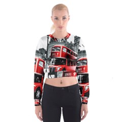 London Bus Women s Cropped Sweatshirt