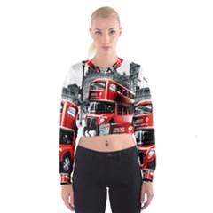 London Bus Women s Cropped Sweatshirt