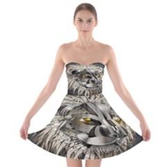 Lion Robot Strapless Bra Top Dress