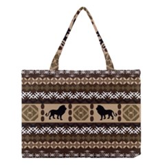 Lion African Vector Pattern Medium Tote Bag